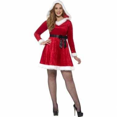 Dames grote maten kerstkleding met capuchon