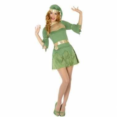 Dames kerst groen elfen kleding