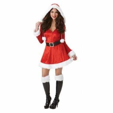 Dames kerstkleding met capuchon