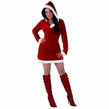 Dames miss santa kerstkleding met capuchon