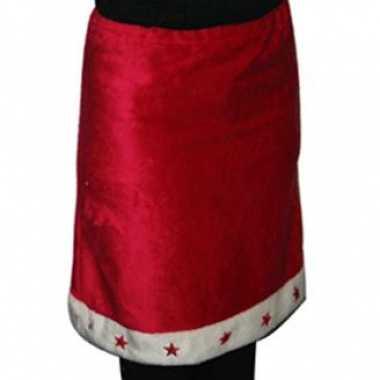 Dames rode kerst kleding met witte rand