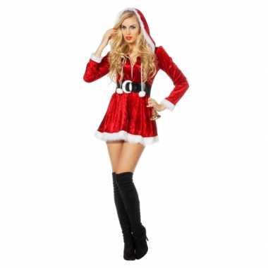 Dames sexy kerstkleding met capuchon