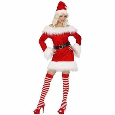 Fluwelen kerstkleding voor dames