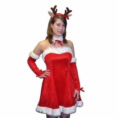 Kerstkleding rudi met rendier diadeem voor dames